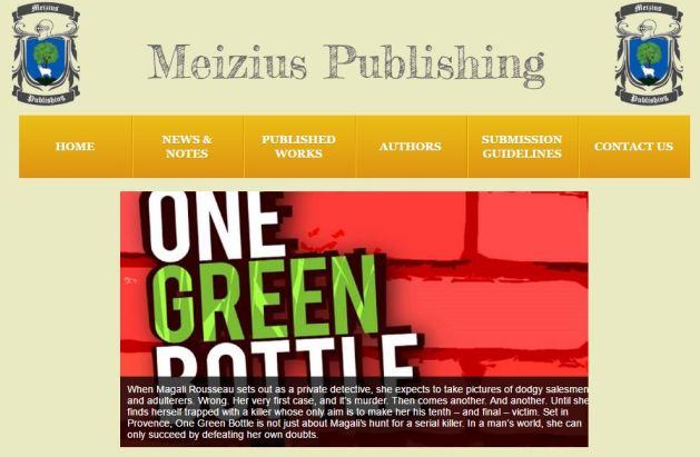Curtis Bausse One Green Bottle Meizius Publishing