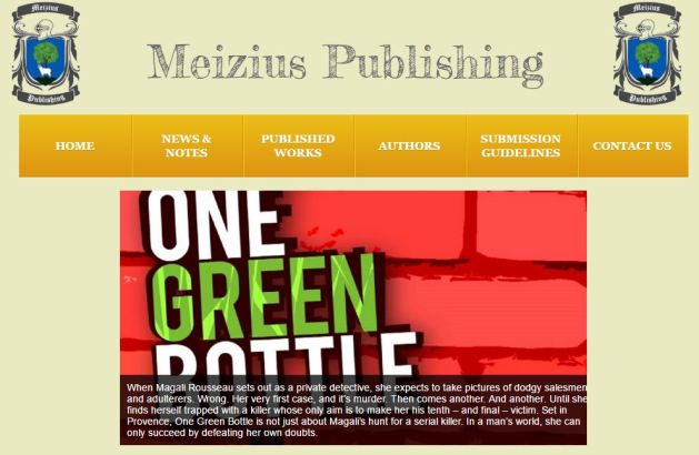 Curtis Bausse One Green Bottle Meizius Publishing